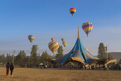 Oregon Eclipse (Dancing.With.Wolves) Tags: eclipse early morning hot air ballon music oregon humans dancing artsy art play playful tent structure party sun moon total shadow fine details dust dirt dirty