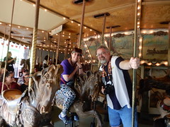 "Tracey and Scott at the Griffith Park Carousel • <a style=""font-size:0.8em;"" href=""http://www.flickr.com/photos/28558260@N04/30870815997/"" target=""_blank"">View on Flickr</a>"