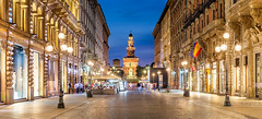 _MG_4169 - Via Dante & Castello Sforzesco (AlexDROP) Tags: 2018 italy europe lombardy milano milan art travel architecture castle color cityscape longexposure canon6d ef16354lis wideangle street best iconic famous mustsee picturesque postcard hdr panoramic
