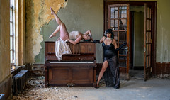 Piano Lessons (LKB_Photography) Tags: urbex urban derelict old model models photoshoot england