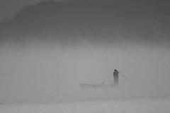 fishing in the clouds (Mustafa Kasapoglu) Tags: morning fog mist foggy misty fisherman boat fishing invisible bw blackandwhite blacksea blackwhite monochrome