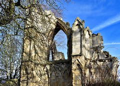 The West End (rustyruth1959) Tags: monks benedictine monastery ancient sky stonework arch architecture winter tree ruins abbeyruins abbey stmary'sabbey york yorkshire england uk nikon1855mm nikond5600 nikon