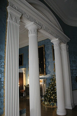Through a Neo classical arch (jpotto) Tags: uk derbyshire kedlestonhall nationaltrust christmas christmastree eastmidlands ambervalley arch neoclassic