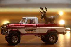 Christmas Delivery (-SOLO--) Tags: bokeh christmas ford holidaydelivery hotwheels reindeer rlc texasdriveem macromondays redux2018 holiday