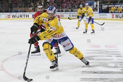 #14 Broc LITTLE in action (kirusgamewornjerseys) Tags: spengler cup ice hockey tournament davos switzerland 28 dec 2017 broc little front fights for puck with team canadas maxime lapierre during game between canada hc at 91th thursday december 67418287 eishockey worn jersey cody almond joren van pottelberghe