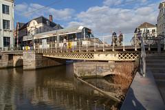 Vleeshuisbrug, Gent (itmpa) Tags: ghent eastflanders belgium be kleinevismarkt vleeshuisbrug bridge leie tram gent archhist itmpa tomparnell canon6d canon 6d