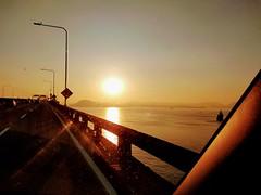 Baia linda de Guanabara (lucia yunes) Tags: baiadeguanabara sol nascerdosol viagem ponterioniterói estrada caminho sunshine sun way mobilephoto mobilephotographie luciayunes motoz3play beauty