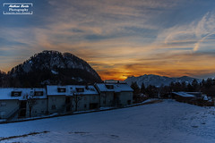Sonnenuntergang (matt.barta) Tags: sonnenuntergang sunset landschaftsfotografie landschaft landscape schnee winter snow homes häuser mountains alps alpen