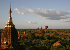 Temples And Pagodas In Bagan, Myanmar (Eric Lafforgue) Tags: asia myanmar burma tourism pagan bagan religion faith buddhism photography colorimage buddha internationallandmark famousplace temple pagoda stupa southeastasia spirituality traditionallymyanmarian copyspace nationallandmark placeofinterest ancient outdoors architecture history builtstructure tranquilscene horizontal colourpicture archaeology traveldestinations nopeople nobody burma7983