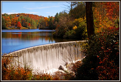 Sequoyah Dam (Jerry Jaynes) Tags: fall 035edsf fall2013035edsf damn lake lakesequoyah sequoyahdam nc highlands maconcounty nikkor1685vr tripodphotography ndx8filter