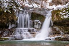 water becomes ice (husiphoto) Tags: wasserfall waterfall wasser water eis ice schnee snow winter natur nature fels rock landschaft landscape outside nikon d750 nikkor