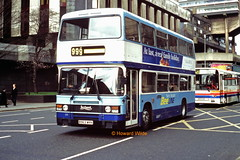 Arriva Manchester 619 (B963 WRN) (SelmerOrSelnec) Tags: arrivamanchester beeline leyland olympian ecw b963wrn manchester portlandstreet northwestern liverline ribble bus