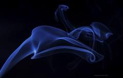 Blue on Black (Themagster3) Tags: smoke flash lightandcolour abstract art