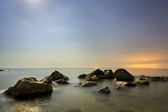 _DSC4827 (silviu_z) Tags: night mar seqa light sony ilce7rm3 nature rocks landscape waterscape outdoor moon beach sand water sky