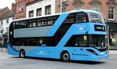 Nottingham City Transport Bio-Gas Bus 435 YN18SVF with an outbound 'Sky Blue Line' service. (Gobbiner) Tags: skyblueline 435 nottinghamcitytransport adl yn18svf scania biogasbus e400city