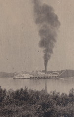 """SHIP RPPC c.1906 STEAMBOAT RIVERBOAT THE ST PAUL Built 1883 St. Louis MO for the St.Louis & St. Paul Packet Co. & ran under the Diamond Jo Flag Rebuilt 1892 at Eagle Yard Dubuque IA1 (UpNorth Memories - Donald (Don) Harrison) Tags: vintage antique postcard rppc """"don harrison"""" """"upnorth memories"""" upnorth memories upnorthmemories michigan history heritage travel tourism restaurants cafes motels hotels """"tourist stops"""" """"travel trailer parks"""" cottages cabins """"roadside"""" """"natural wonders"""" attractions usa puremichigan """" """"car ferry"""" railroad ferry excursion boats ships bridge logging lumber michpics uscg uslss"""