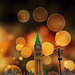 Ottawa Ontario ~ Canada ~ National Historic Site ~ Central Tower  - Bokehs - Parliament Buildings thumbnail