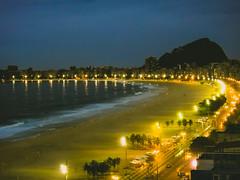 Copacabana Beach Rio (stellagrimsdale) Tags: night beach copacabana brazil rio riodejanerio nighttime nightshoot lights