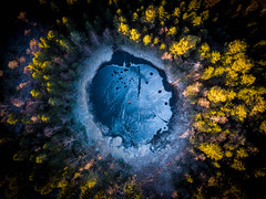 (Svein Skjåk Nordrum) Tags: pond forest woods frozen ice aerial drone djiair dji above perspective lillomarka oslo cold winter explore explored
