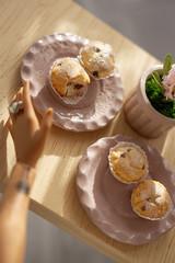 Hyacinth and muffins (kinmegami) Tags: miniature miniatureflowers hyacinth polymerclay
