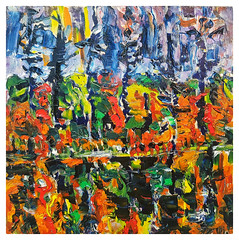 Bog Jacks 2018 12X12 oil on panel. (Tim Noonan) Tags: oil painting art panel canadian landscape abstract contemporary timnoonan