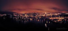 Stavanger city by sunset (B.AA.S.) Tags: stavanger sunset city citylife light bridge sea landscape landskap norway norge sky cloud town desember 2018 night harbour coastline coast rogalandcounty panorama