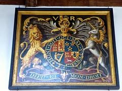 Stoke by Nayland, St Mary's Church (Glass Angel) Tags: royalarms suffolk uk england stokebynayland stmaryschurch