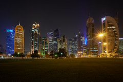 Qatar Towers (ivoräber) Tags: towers qatar doha sony systemkamera voigtlander