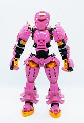 Toa Kelsifa - Front (0nuku) Tags: bionicle lego toa fire ta pink mace flail elves 3dprint punkdrunk182 exota kafai magnetism