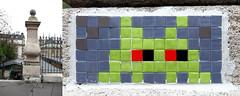 Space invader [Paris 16e] (biphop) Tags: europe france paris streetart space invader spaceinvader mur wall installation mosaic mosaique reactivation reactivated restored restauré réactivé 75016 pa257