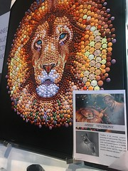 My handpainted lion is exhibited and available for sale in Las Vegas in the United States for the first time at the West Coast Art & Frame Expo and National Conference (Ben Heine) Tags: benheineart painting 7wallarts sevenwallarts patriciapopohuang lion peinture art las decofairart faireventexhibitionlas vegassafariartdecoframewallhomehome fair