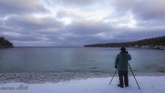 Catching The Clouds (maureen.elliott) Tags: landscape winter shoreline photographer clouds skies water georgianbay tobermory blue brucepeninsula brucetrail