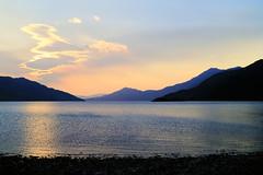 Evening at Loch Hourn (Julian Hodgson) Tags: barrisdalebay lochhourn knoydart scotland highlands walking camping backpacking mountains loch adventure film transparency nikonfm kodachrome64