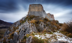 Ariège - Château de Montségur (Thaurin Geoffrey Photographie) Tags: france ariège landscape paysage nature chateau castel ciel sky cloud nuage sony a7ii rock roche montagne moutain amateur love me time occitanie tourisme