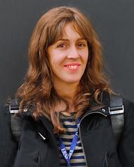 Street portrait (chrisk8800) Tags: portrait street streetportrait youngwoman girl smile looktocamera barcelona