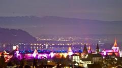 MY TOWN ! - Murten City (arteys) Tags: murten morat lichtfestival lightfestival lichtkunst lichtkünstler sony a6000 beleuchtung luci lacdemorat murtensee kunstlicht lichtspiel vully see fribourg friburg schweiz