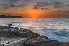 Sunrise Seascape with Clouds (Merrillie) Tags: daybreak sunrise nature dawn paullandareserve landscape centralcoast morning sea newsouthwales rocks pearlbeach nsw waterscape rocky ocean earlymorning water waves coastal clouds outdoors seascape australia coast sky seaside