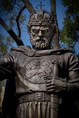 Tsar Samuil (Leaning Ladder) Tags: sofia bulgaria tsar samuil faces leaningladder canon 7dmkii statues