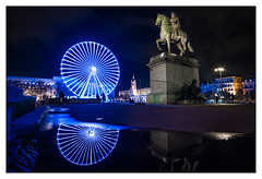 (Laetitia.p_lyon) Tags: fujifilmxt2 granderoue bigwheel ferriswheel lyon bellecour nuit night puddle reflet reflection