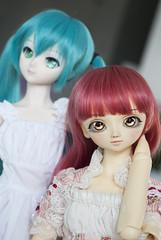 Arika's new face (Kyane) Tags: bjd doll dolls volks dollfie superdollfie rio fcs oldskin discontinued portrait cute kawaii manga anime repaint custom makeup faceup miku hatsune hatsunemiku vocaloid