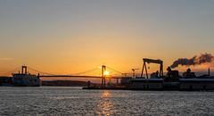 IMG_2531 (S. Josuason) Tags: göteborg hisingen sunset harbour stena line eriksberg