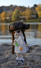 Lost in Water (MlleChantilly) Tags: pullip doll dolls dollphotography dollsphotography obitsu nature river lake water autumn dal angry hnaoto