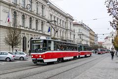 BRN_1203_201811 (Tram Photos) Tags: ckd tatra t6a5 brno brünn strasenbahn tram tramway tramvaj tramwaj mhd šalina dopravnípodnikměstabrna dpmb