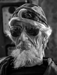 Old Biker (arbyreed) Tags: arbyreed monochrome bw blackandwhite legends legendsmotorcycleemporium sidecarcafe motorcycles vintagemotorcycles indianmotorcycles