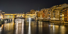 Ponte Vecchio Bridge in Florence at night (phuong.sg@gmail.com) Tags: ancient arch architecture art bridge building city cityscape colorful construction dusk europe european evening famous firenze florence golden historic history italy landmark light medieval night old panorama ponte reflection renaissance river scene sky skyline street summer sunset toscana tourism tourist town travel tuscany vecchio view water