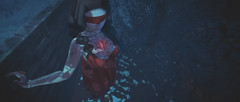 For the Nightmare (jaimelapoutine) Tags: avatar secondlife nighttime darkness ledbymyheart can'tseeanything blinded sleepwalking dream nightmare night glow heart magic dark lumipro blindfold shadows valentinae selfie jaime poutine jaimepoutine sl woman second life female