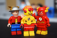 The Flash Family (2018) (Andrew Cookston) Tags: lego dc comics flash barry allan wally west jay garrick christo7108 funnybrick andrew cookston andrewcookston