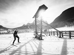 Skiing #500px (Filippo B.) Tags: 500px freddo montagna neve san candido sesto lifeisstreet bnwlegit bnwaddiction everythingbnw friendsinbnw black white blackandwhite olympus omd em1 1240 social 2018 brulè bz ferie mercatini sancandido slittino vacanze
