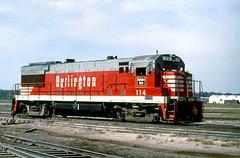 CB&Q U28B 114 (Chuck Zeiler 48Q) Tags: cbq u28b 114 burlington railroad ge locomotive lincoln train alchione chz