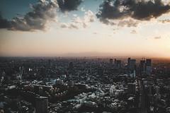 Tokyo Sunset (Eric Anthony Balsamo) Tags: dusk tokyo cityscape japan fuji fujifilm x100f mountfuji clouds calm tones